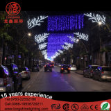 LED kundenspezifischer Entwurf über der Straße, die Licht für Straßen-Dekoration formt