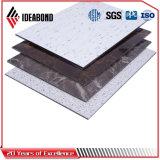 painel composto de alumínio ACP da textura de pedra de 4mm