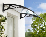 DIY gebogenes Polycarbonat-Tür-Kabinendach mit Plastikhalter (YY-N)