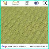 Nueva tela revestida del telar jacquar de la tela escocesa del diseño PU/PVC Duotone para el morral