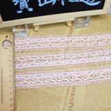 Cordón químico del cordón del bordado de la anchura de la venta al por mayor los 3.5cm de las existencias de la fábrica de la alta calidad del poliester del bordado de la suposición de nylon del recorte para el accesorio de la ropa y las materias textiles caseras
