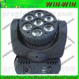 7*12W 이동하는 헤드 LED 4in1 RGBW 소형 광속 LED
