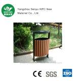 WPC nenhum caixote de lixo ao ar livre da deterioração