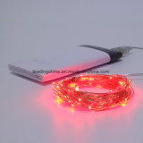 Druable Multi LEDs Alambre de Cobre USB String Fairy Interior Rojo Luces Lámparas