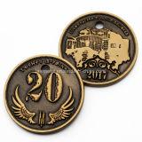 Aduana al por mayor 65 años de moneda del recuerdo con el borde especial
