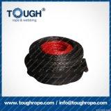 La corda sintetica dell'argano del nero 9mmx30m UHMWPE ha impostato per l'argano 4X4