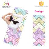 Couvre-tapis pliable de yoga de course avec l'anti surface de suède de glissade
