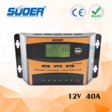 Suoer 12V 40A intelligenter PWM Solarcontroller-Solarladung-Controller mit Cer RoHS (ST-C1240)