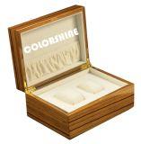 Rectángulo de regalo de madera rojo del embalaje de la joyería de la alta calidad
