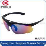 Manera de ciclo protectora polarizada ULTRAVIOLETA Eyewear de los vidrios de Sun del ojo del deporte del Mens de las gafas de sol de Clipon del aviador que se ejecuta