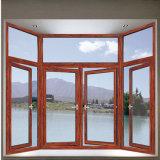 China-Aluminiumprofil-Fenstertür-Entwurfs-Holz-Farbe
