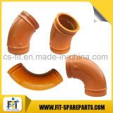 Pièces de rechange de pompe à béton Zoomlion Double tube de coude 45 degrés