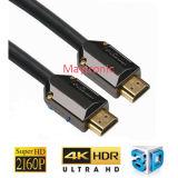나일론 끈을%s 가진 금에 의하여 도금되는 2.0/3D/4k HDMI 케이블
