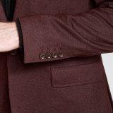 Più nuova giacca sportiva di inverno del Knit della Borgogna del progettista 2016