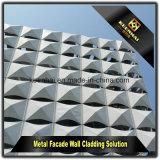 Painel de parede de alumínio exterior do edifício comercial com forma moderna