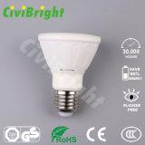 Aluminium- und Plastik-LED-NENNWERT beleuchtet Lichter des PFEILER Chip-E27 LED