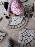 팬 모양 모자이크 바닥 도와 포석