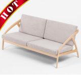 Sofà di legno del salone della noce della mobilia della camera da letto della quercia del tessuto moderno del faggio