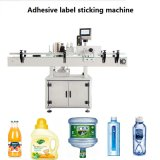 Automatische runde flache Flaschen-selbstklebende beschriftenhaftende Maschine