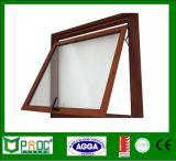Алюминиевое верхнее повиснутое окно при деревянное зерно сделанное в Китае