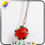 Joyería verdadera coloreada resina del collar de la flor