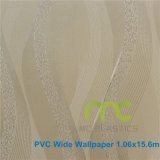 Carta da parati per la decorazione domestica, carta da parati impressa profonda 1.06X15.6m del PVC del PVC