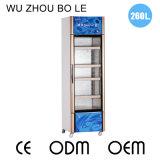 260L de arrefecimento de três lados, abertura vertical, porta única, Showcase