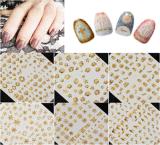 autoadesivo metallico del chiodo degli autoadesivi di arte del chiodo delle decalcomanie dell'oro 3D
