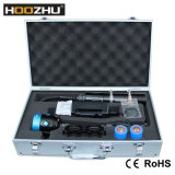 Schakelaar Duikende Video Lichte Maximum 4000lm van de Kleur van Hoozhu Hv33 Vier Lichte Dubbele Watrproof 120m LEIDENE Toorts voor het Duiken