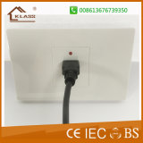 Ce Approbation 2gang 1way Switch + 3 Pole Electric Wall Socket