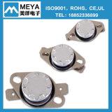 Tipo normalmente cercano sensor termal bimetálico de la fábrica