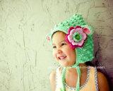 부활절 선물이 손 크로셰 뜨개질 어린 양 모자 아기 양 베레모에 의하여 농담을 한다