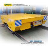 Vehículo de la plataforma del carro de la transferencia del carril del cargamento de 25 toneladas