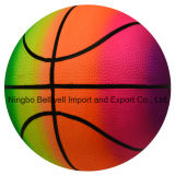 Jouets en PVC Impression couleur gonflable Rainbow Basketball