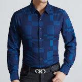 Chemise occasionnelle de modèle de coton d'hommes minces neufs d'ajustement