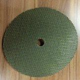 Disco calcinado forro de la solapa de la fibra de vidrio, rueda de pulido y de pulido abrasiva