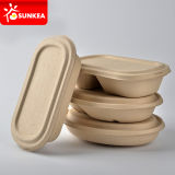 Biodegradable Eco friendly compostables trigo amarillo paja pulpa recipientes de comida