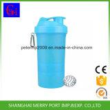 3 em 1 garrafa de água plástica do abanador do esporte do frasco da bebida