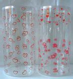 Costumbre plástico regalo tubo con la impresión (caja de regalo de navidad)
