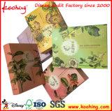 Коробка польностью косметики штемпелевать золота покрашенного печатание упаковывая бумажная для подарков