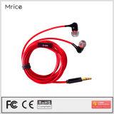 Auscultadores MP3 de alta fidelidade prendido 3.5mm do fone de ouvido estereofónico da em-Orelha de Fishion