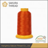 Cuerda de rosca del poliester de Sakura con la alta fuerza de Anti-Fractura para la costura de alta velocidad de la máquina