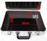 Platear todo el rectángulo de aluminio del instrumento de la hoja del gráfico de lujo portable de gama alta de aluminio de la caja de herramientas