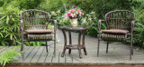 Самомоднейшая мебель отдыха сада 2+1 стул таблицы ротанга бистро Wicker для задворк штанги кафа патио