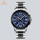 Vigilanza d'acciaio di lusso 72794 di sport dell'orologio dell'uomo del cronografo