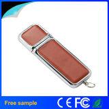 Palillo de cuero USB2.0 4GB de la PU de la capacidad verdadera de la venta al por mayor el 100% Pendrive