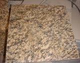 建築材料の黄色のトラの皮の花こう岩のタイルか平板または虚栄心の上またはカウンタートップまたは壁のタイル