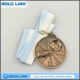 3D a gravé les trophées faits sur commande de pièce de monnaie d'enjeu du football de médailles de médaille en laiton