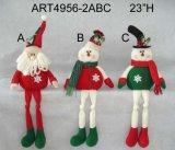 """23 """" H 산타클로스와 눈사람 선반 참석자 크리스마스 훈장 선물 3asst"""
