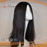 최고 긴 사람의 모발 칠흑색 여자 가발 유형 100% 사람의 모발 가발